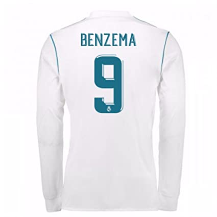 b346d1606 Image Unavailable. Image not available for. Color  2017-18 Real Madrid Long  Sleeve Home Football Soccer T-Shirt ...