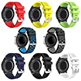 Galaxy Watch 46mm Bands - Gear S3 Bands, 22mm Universal Soft Silicone Replacement Breathable Business Sport Bands for Samsung Galaxy Watch 46mm/Gear S3 Frontier/Classic Smart Watch(8 Pack)