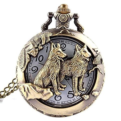 Bronze Animals Hollow Quartz Pocket Watch Necklace Pendant Women Men's Gifts - 51L N7w3F 2BL - Bronze Animals Hollow Quartz Pocket Watch Necklace Pendant Women Men's Gifts