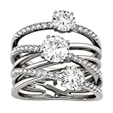 Forever Brilliant Round 6.0mm Moissanite Band Style Ring-size 6, 2.28cttw DEW By Charles & Colvard