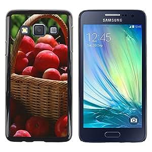 Exotic-Star ( Fruit Macro Red Apples ) Fundas Cover Cubre Hard Case Cover para Samsung Galaxy A3 / SM-A300