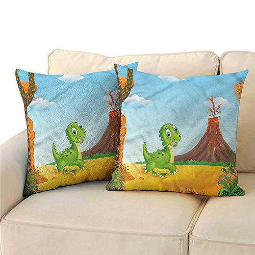 Godves Pillowcase Kids Cartoon Style Baby Dinosaur Super Soft and Luxury, Hidden Zipper Design 24