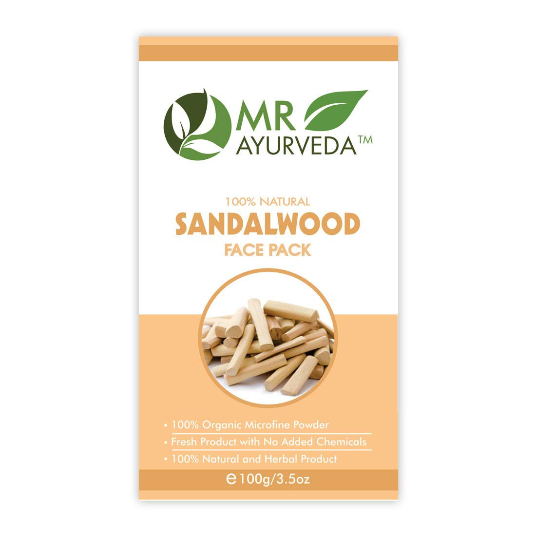 MR Ayurveda Sandalwood Face Pack Powder for Clear, Healthy and Glowing  Skin, 10 Gm
