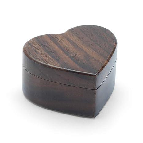 MYA - Caja para Anillos de Madera con Forma de corazón, Caja para ...