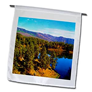 Jos Fauxtographee Realistic - A Beautiful Lake in Colorado That you see as you Pass by on The Silverton Painted - 18 x 27 inch Garden Flag (fl_57331_2)