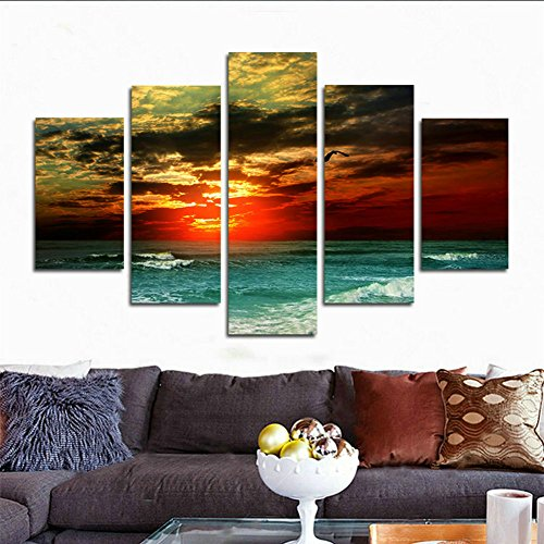 SwmArt Mar 5 HD panels at night Canvas painting canvas art great cheap Quadros De Parede oil Painting (no frame) Swm47 50 inch x30 inch