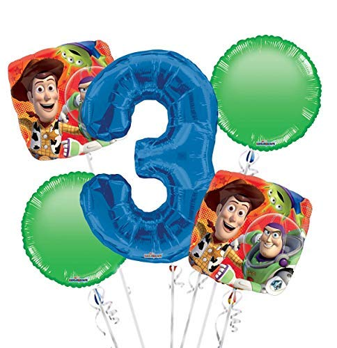 Toy Story Balloon Bouquet 3rd Birthday 5 pcs - Party Supplies ()