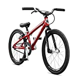 Mongoose Title Micro BMX Race Bike, 20-Inch Wheels, Beginner to Intermediate Riders, Lightweight Aluminum Frame, Internal Cable Routing, Blue