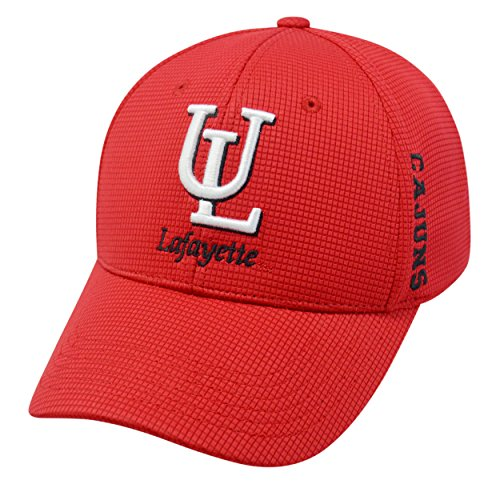 Louisiana LaFayette Ragin' Cajuns Official NCAA One Fit Booster Plus Embroidered Hat Cap by Top of the World 022028 - Lafayette College Mascot