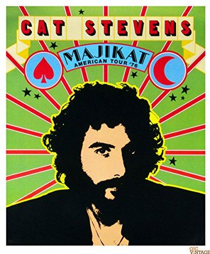 Cat Stevens Poster Majikat American Tour 1976 20 x 24