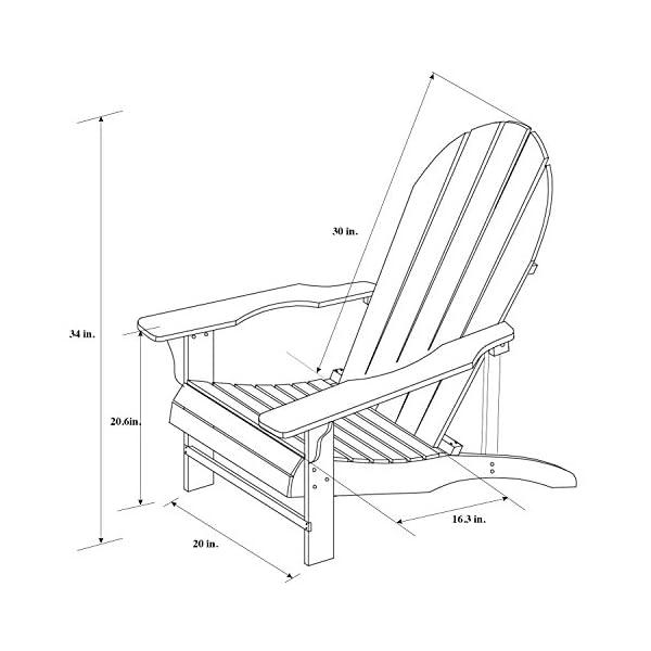 Songsen Outdoor Wooden Adirondack Chairs Patio Deck Garden Furniture