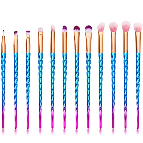 Eyeshadow Brush Set,12 Pcs Unicorn Eye Brush Set For Eyeliner Lip Eyebrow Eyeshadow Blending sets
