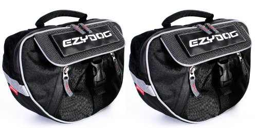 EzyDog Convert Harness Trail-Ready Saddle Bags for Dogs, Large