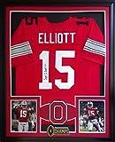 Ezekiel Elliott Framed Jersey Signed JSA COA Autographed Ohio State Buckeyes