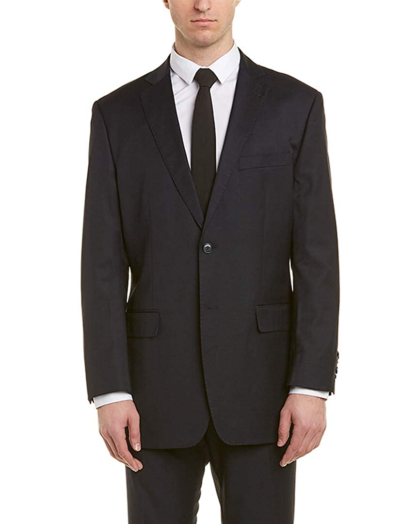 40S Blue English Laundry Mens 2Pc Wool Suit with Pleated Pant