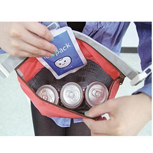 HighlifeS Lunch Bag Waterproof Thermal Fashion Cooler Insulated Lunch Box More Colors Portable Tote Storage Picnic Bags (Red) by HighlifeS (Image #4)