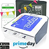 #6: Iprovèn Blood Pressure Monitor Clinical Upper Arm -Premium Technology: Double Pulse Detection Technology - Lightning Fast (30-40 SEC) Highly Accurate - Free App and Medium Cuff (White-Gray)