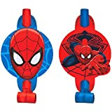 Spider-Man Party Blowers, Pack of 8, Party Supplies