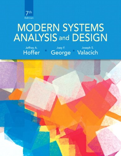Modern Systems Analysis and Design (7th Edition) by Pearson