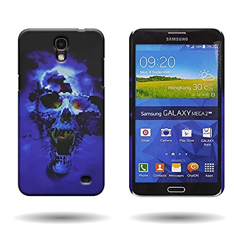 Galaxy Mega 2 Case, by CoverON [Slender Fit] Series Protective Design Hard Snap-On Cover For Samsung Galaxy Mega 2 - Blue (Galaxy Sll Phone Charger)