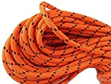 1/2'' X 150' Double Braided Polyester Arborist Rigging Rope, Orange and Black