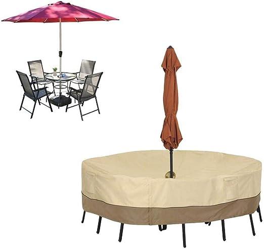 Muebles Las mesas redondas for patio y las sillas cubren grandes ...