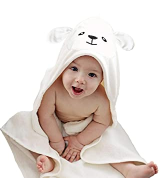 Gerber 2-Piece Hooded Bath Towel Lamb 26x 30