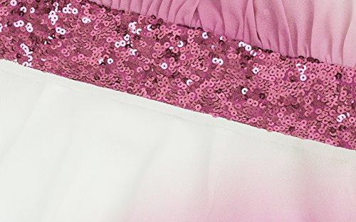 Angel Paillettes Ruban de Mousseline Pente d'honneur ligne soie Une epaule fashions Rose demoiselle Une de Femme Robe XOwIXrq