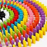 Building blocks Qiyun 100Pcs Rainbow Wooden Dominos Blocks Set Kids Game Educational Play Toy Christmas Gift