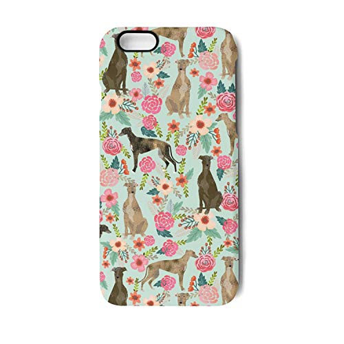 Brindle Dog and Florals i-Phone 6/6s Case Phone Shell Shockproof Fashion for i-Phone 6/6s ()