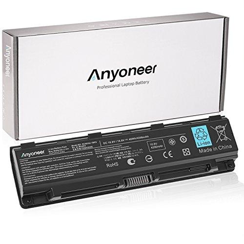 Anyoneer High Performance New Laptop Battery for Toshiba PA5024U-1BRS PA5023U-1BRS PA5025U1BRS PA5026U-1BRS PA5027U-1BRS, PABAS259 C800 C845 L835 L850 PA5024U-1BRS (1brs Toshiba Replacement)