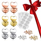 Ear Lifters,EMAZON ONLINE Adjustable Hypoallergenic Earing Backs Lifters - Come with Earlobes Earring Support & Bullet Clutch Safety Earring Backs - Compatible All Standart Earring Post