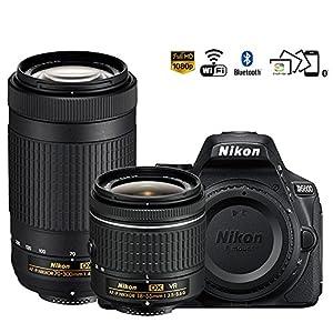 Nikon D5600 24.2MP DSLR Camera 18-55mm VR & 70-300mm ED Lens (1580B) - (Certified Refurbished)
