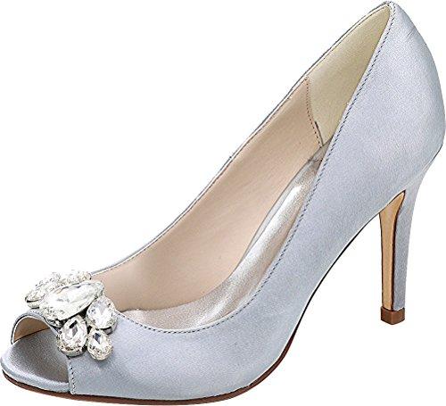 Con Donna Punta Tacco Cfp Wedding Vestito Party 5623 Pcp nbsp; Caviglia Arrotondata Sposa Pompe Strass Cinghie xSg5nqYnHw