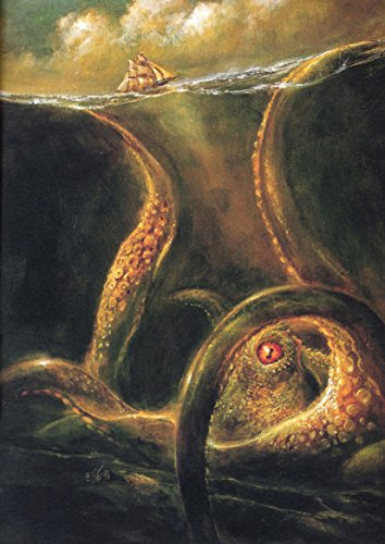 Norse Myths: Kraken. Sea Monster Art Print/Poster. (84.1cm x 59.4cm) (Art Sea Monster)
