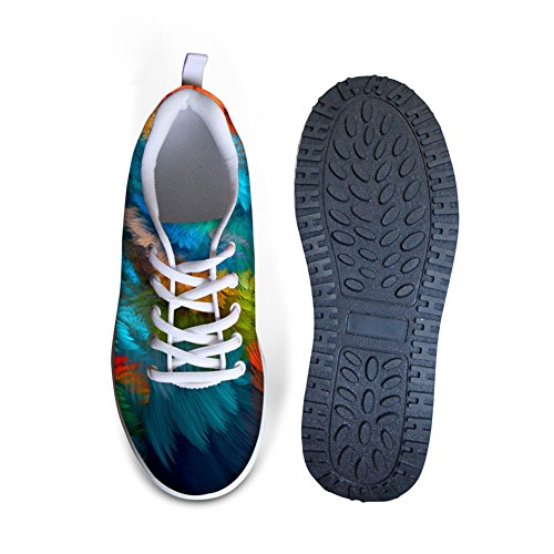 For U Diseños Fashion Stripe Print Mujeres Wedges Platform Walking Zapatos Multi B2