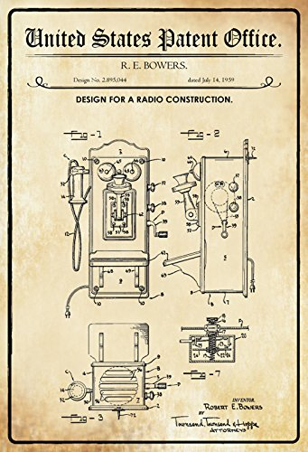 United States Patent Office – Design for a radio construcción – Entwurf für ein Radio –