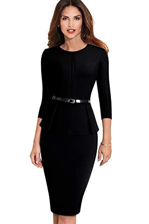 9635eafe246 ROSE IN THE BOX Womens Business Casual Clothes Bodycon Pencil Office ...