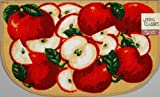 LIVING CLASSICS ORCHARD APPLES KITCHEN SLICE RUG