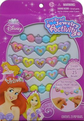 UPD Disney Princess Pop Beads Jewelry 25ct Pack]()