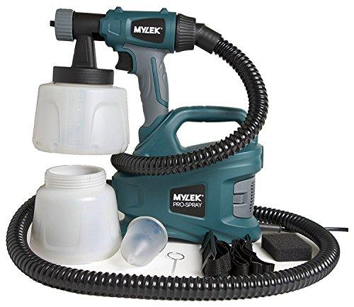 MYLEK PRO-SPRAY 700W Electric Paint Sprayer Gun Kit - 2 Paint Cups,...