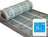 Electric underfloor heating Kit, 160W/m2 with touch screen thermostat **ALL SIZES** LIFE TIME WARRANTY!
