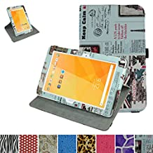 "Acer Iconia One 10 B3-A20 Rotating Case,Mama Mouth 360 Degree Rotary Stand With Cute Lovely Pattern Cover For 10.1"" Acer Iconia One 10 B3-A20 Android Tablet,Newspaper"