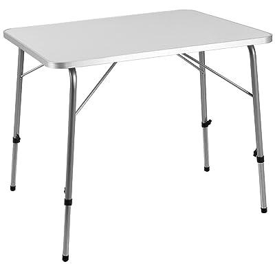 Table Pliante en Alu à hauteur réglable 80x60 cm Camping Jardin ...