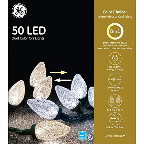 50 Ct Multi Color Led C9 Christmas Lights in US - 4