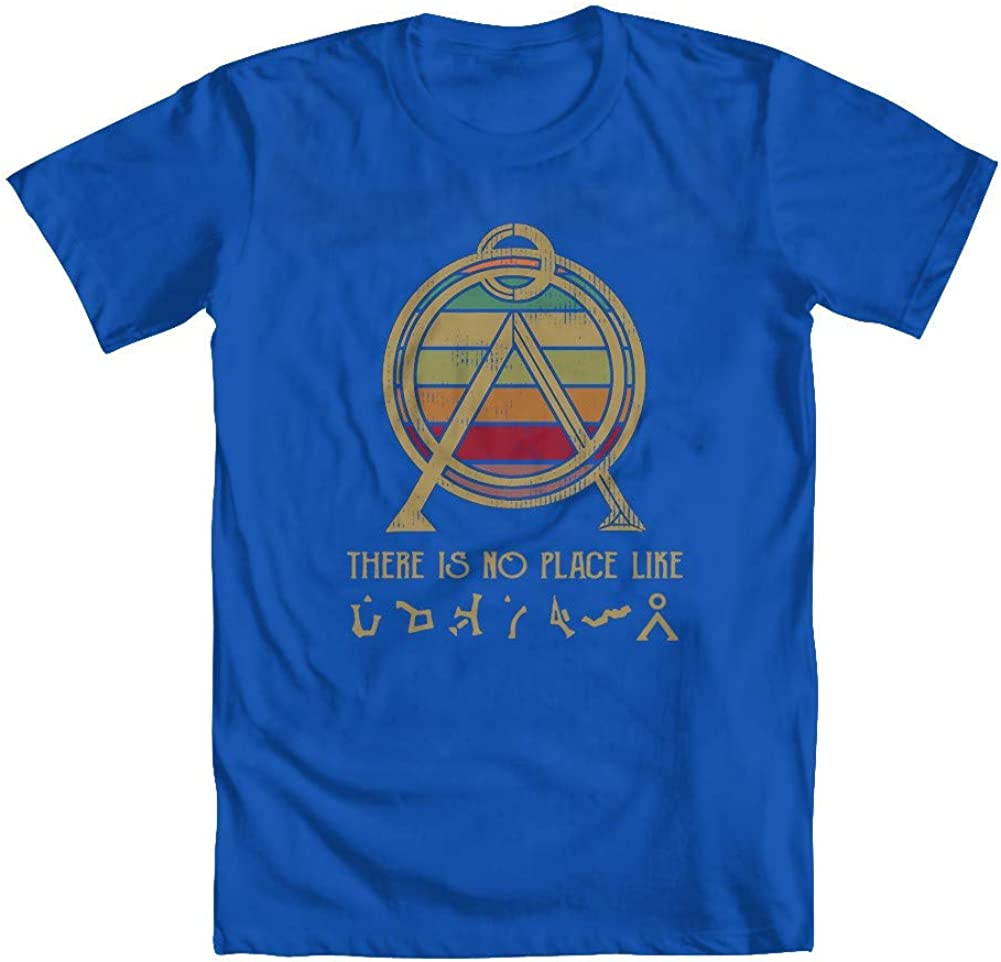 GEEK TEEZ Stargate Inspired No Place Like Home Youth Boys' T-Shirt Blue Large