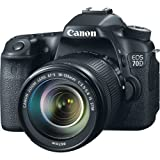 Canon EOS 70D DSLR Camera Video Creator Kit with Canon EF-S 18-135mm f/3.5-5.6 IS STM Lens + Wide Angle Lens + 2x Telephoto Lens + Flash + SanDisk 32GB SD Memory Card + Accessory Bundle