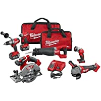 Milwaukee 2896-26 M18 FUEL 18-Volt Lithium-Ion Brushless Cordless 6-Tool Combo Kit