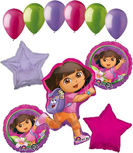 - 11 pc Dora the Explorer Adventure Balloon Bouquet Happy Birthday Nickelodeon