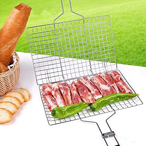 PPING Grille Barbecue Ronde Grille De Barbecue Barbecue Grill Rack Barbecue Grill Maille Tapis Non Bâton Barbecue Grill Tapis
